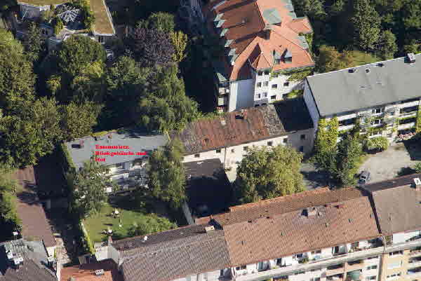 Luftbild Studentenwohnheim Emanuelstrasse: Weitere, grössere Luftbilder hier